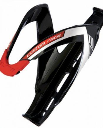 Flaskställ Elite Custom Race svart med röd logo