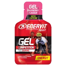 Enervit Sport Gel 25ml Raspberry With Caffeine