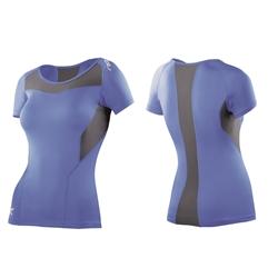 2Xu Short Sleeve Compression Top - Woman - Blue