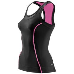 Skins A200 Womens Racer Back Top - Kompressionslinne - Black/Pink