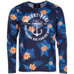 Orange Flower L/S Tee, Navy, 2xl,  T-Shirts