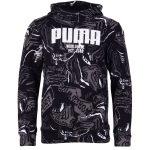 Alpha Aop Hoody Fl B, Puma Black, 110,  Puma