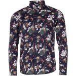 Shirt - Tyler Ls Bu Flower, Black, L,  Solid