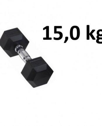Gummi / Kromhantel HEX Master Fitness 15
