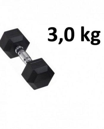 Gummi / Kromhantel HEX Master Fitness 3