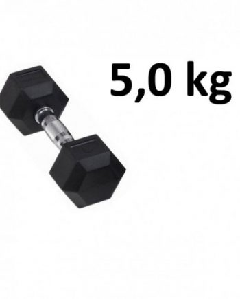 Gummi / Kromhantel HEX Master Fitness 5