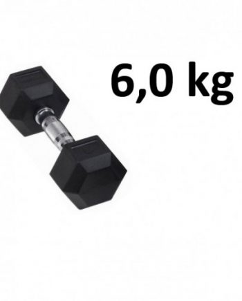 Gummi / Kromhantel HEX Master Fitness 6