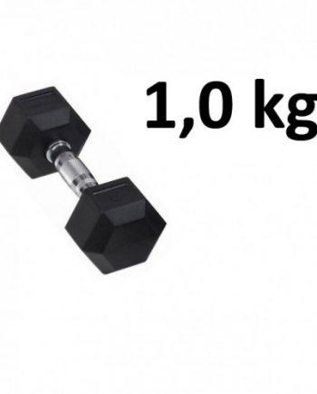 Gummi / Kromhantel HEX Master Fitness 1