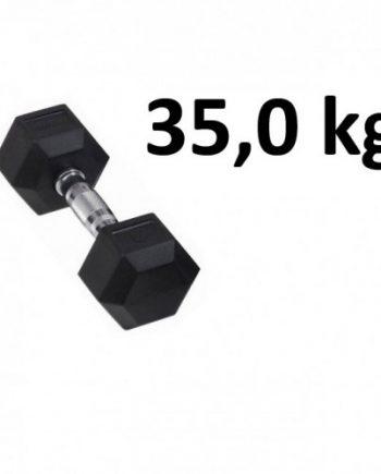 Gummi / Kromhantel HEX Master Fitness 35