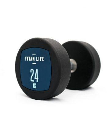 Hantel TITAN LIFE Dumbbell 24kg PU