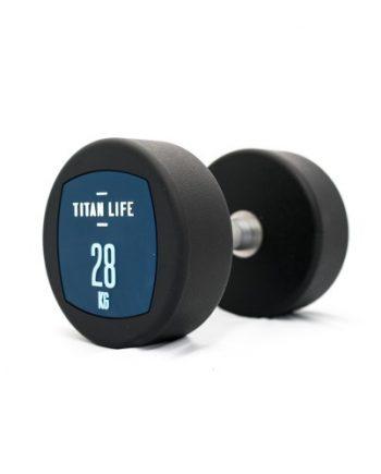 Hantel TITAN LIFE Dumbbell 28kg PU