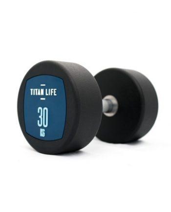 Hantel TITAN LIFE Dumbbell 30kg PU