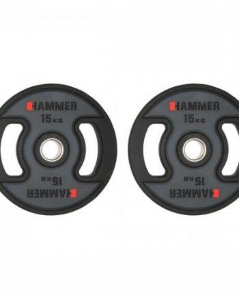 Gummiklädda internationella viktskivor Hammer 2x15 kg