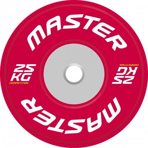 Viktskiva Competition Bumpers Plate 25 kg - Master
