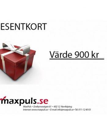 Presentkort MaxPuls.se 900 kr
