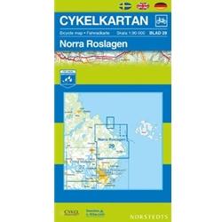 Norstedts Cykelkartan Blad 29 Norra Roslagen