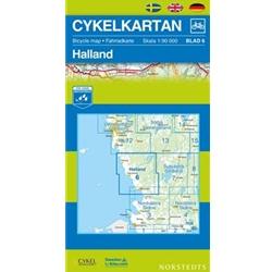 Norstedts Cykelkartan Blad 6 Halland