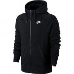 Nike Aw77 Ft Fz Hoody, Black/Black/White, M,  Nike