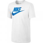 M Nsw Tee Icon Futura, White/White/Photo Blue, L,  Nike
