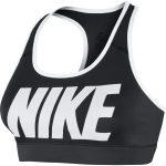 Nike Victory Cmprsn Logo Bra, Black/White/White, L,  Nike