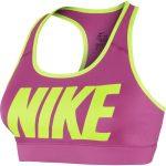 Nike Victory Cmprsn Logo Bra, Hot Pink/Volt/Volt, S,  Nike