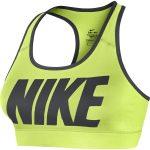 Nike Victory Cmprsn Logo Bra, Volt/Anthracite/Anthracite, S,  Nike