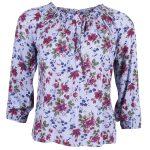 Must Kylie Flower Top, Blue Flower, 34,  T-Shirt